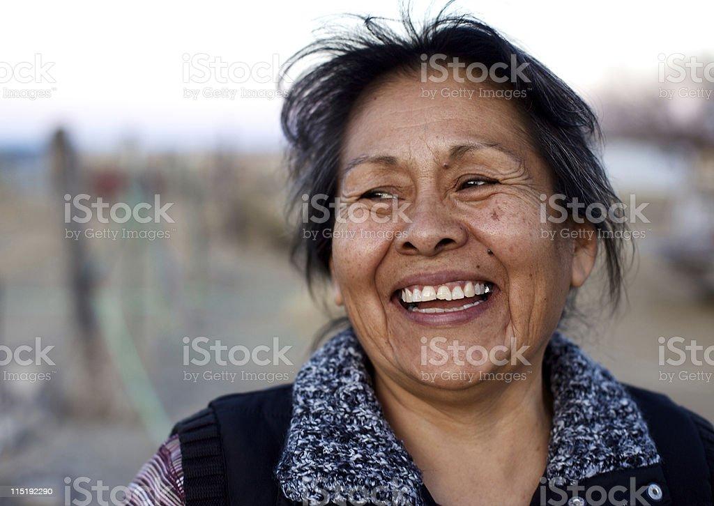 Native american portraits - Navajo royalty-free stock photo