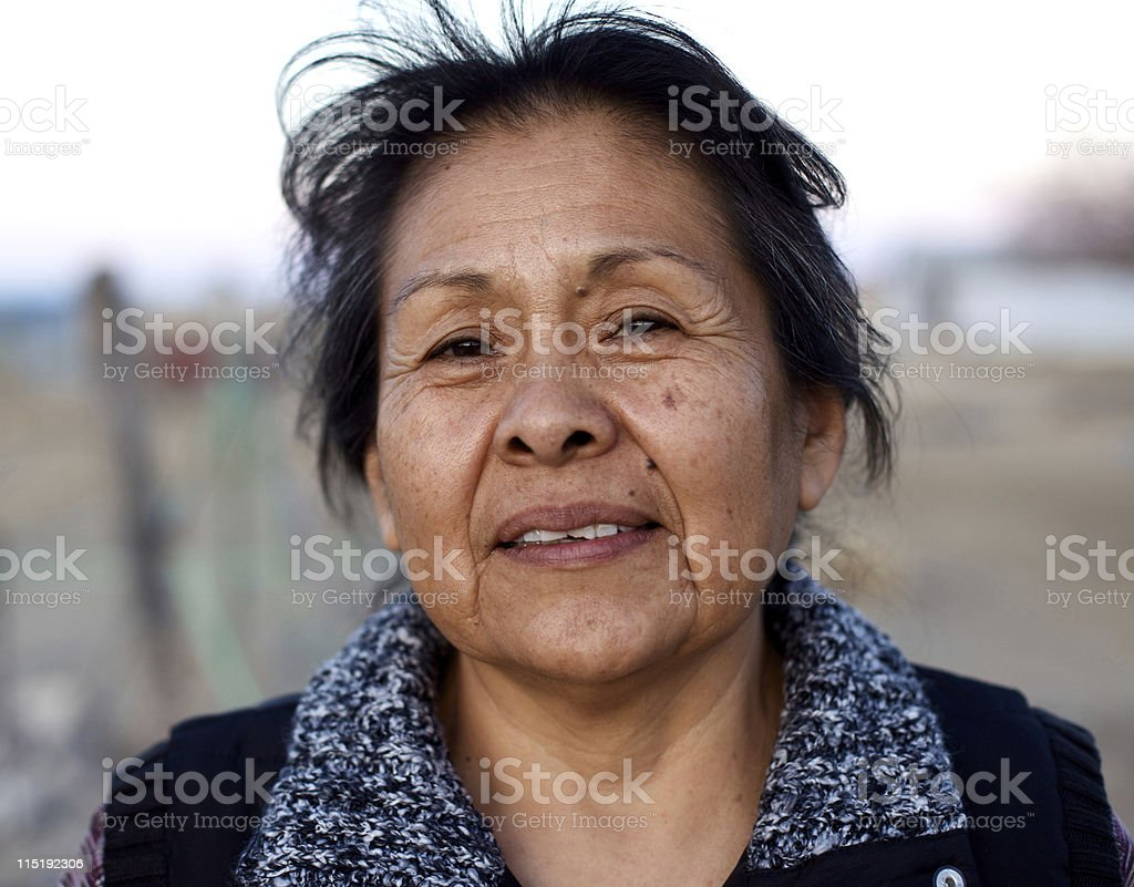 Native american portraits - Navajo stock photo
