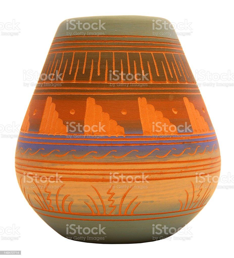 Native American Pottery royalty-free stock photo