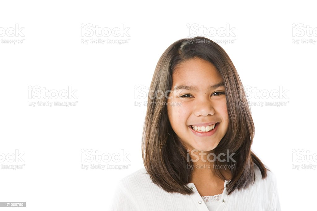 Native American Pre Teen Girl royalty-free stock photo