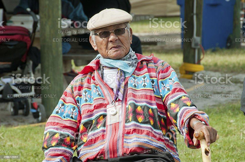 Native American Seminole Chief stock photo