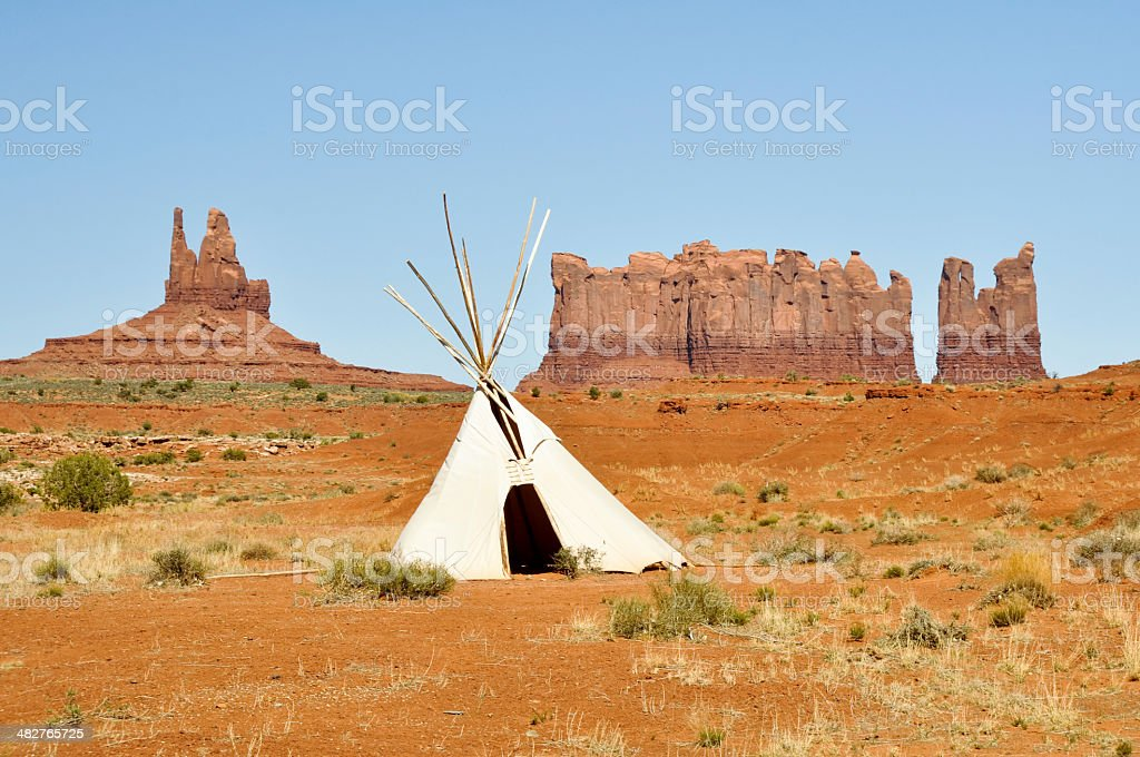 Native american tee pee in Monument valley royalty-free stock photo
