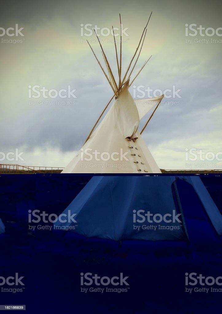 Native American tepee royalty-free stock photo