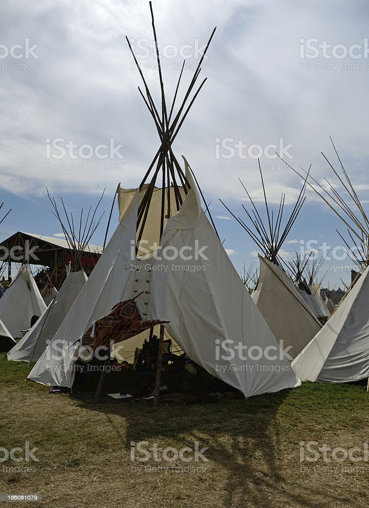 Native American Tipi royalty-free stock photo