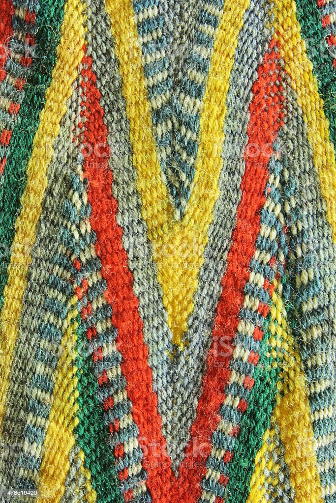 Native American Tribal Woven Textile stock photo