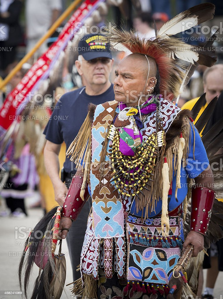 Native American War Veteran royalty-free stock photo