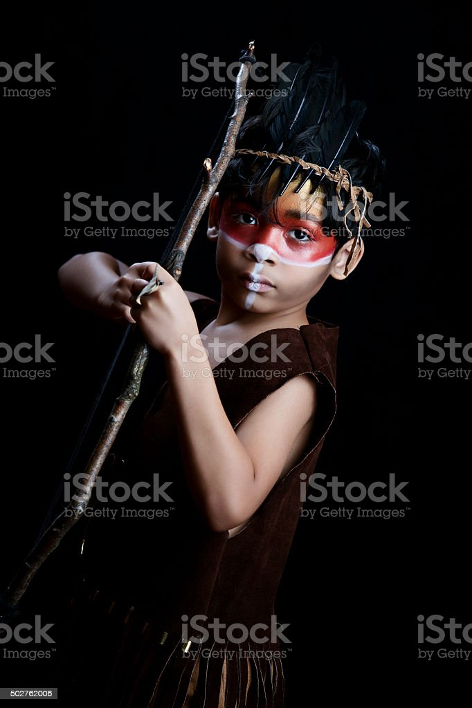 Native American Warrior stock photo