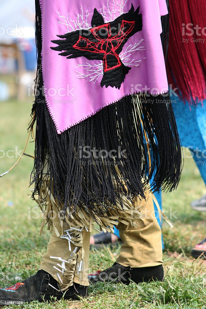 Native American with decorative shawl royalty-free stock photo