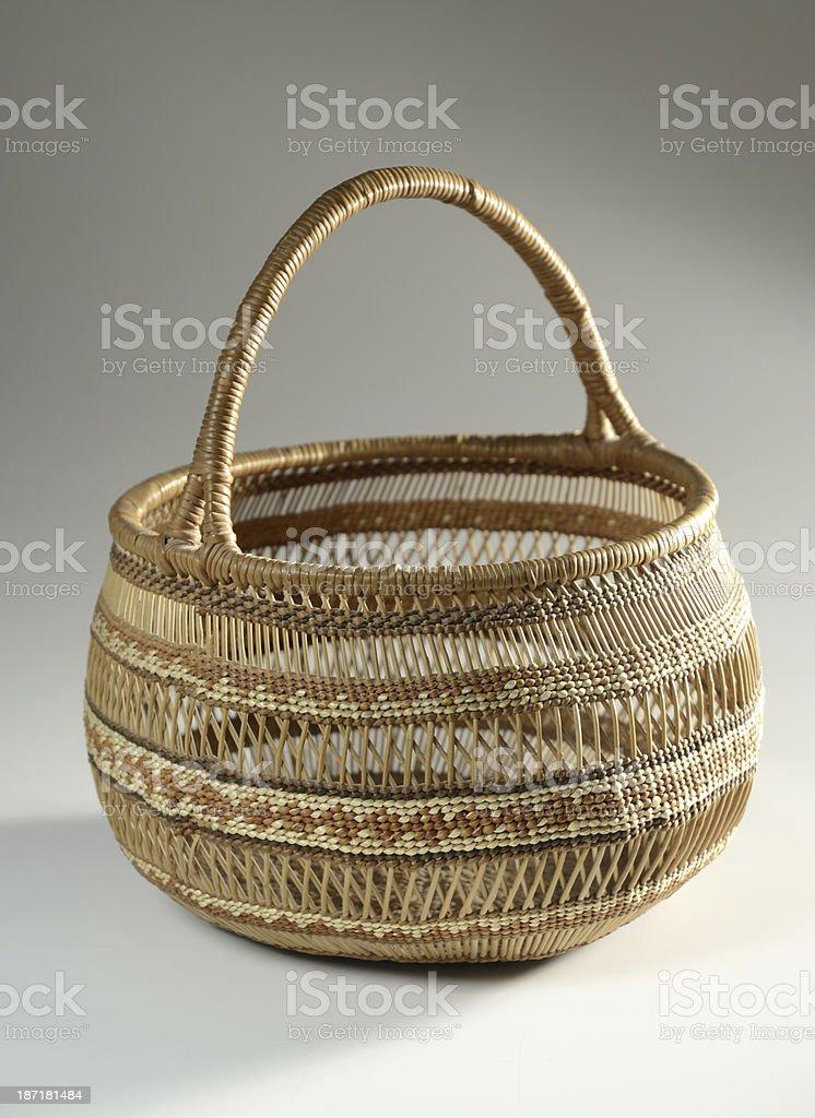 Native American Woven Basket royalty-free stock photo