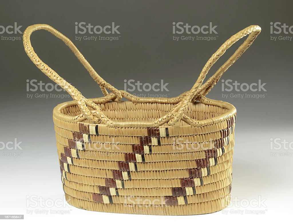 Native American Woven Basket royalty-free stock photo