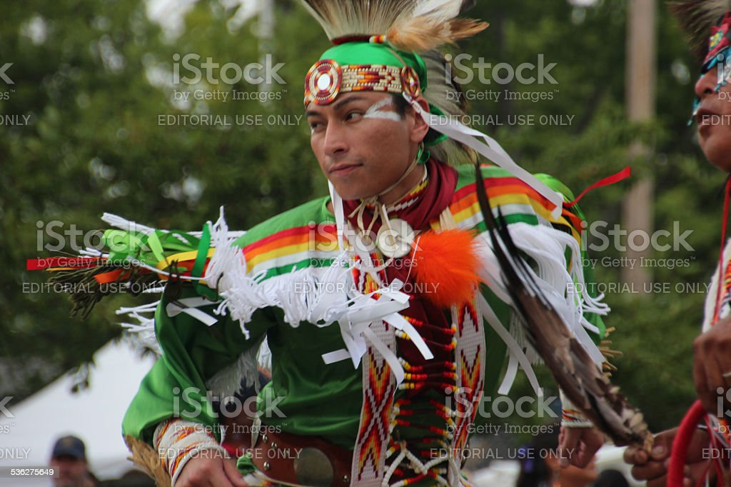 Native Americans at Pow-wow stock photo