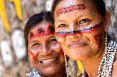 Native Brazilian old women portrait