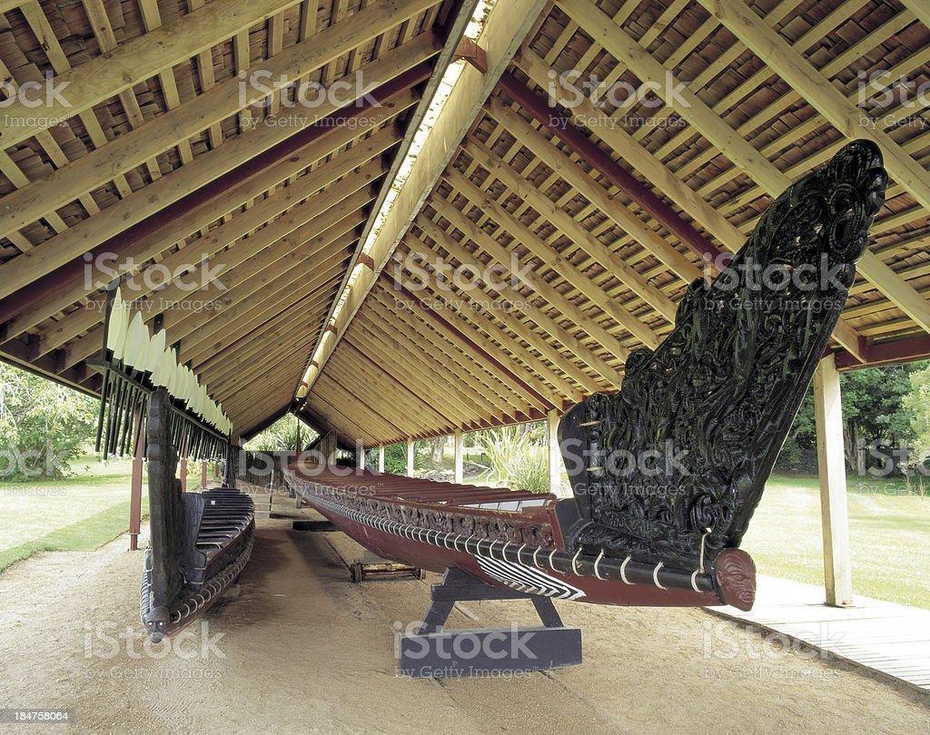 Native canoe royalty-free stock photo