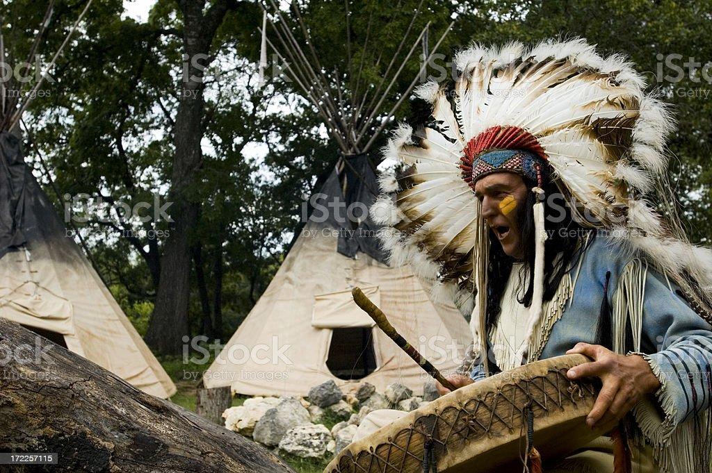 native chant stock photo