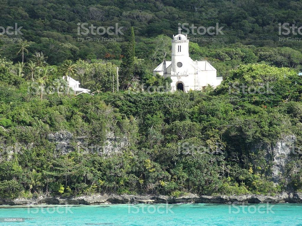 Native church, Lifou, Loyalty Islands, New Caledonia stock photo