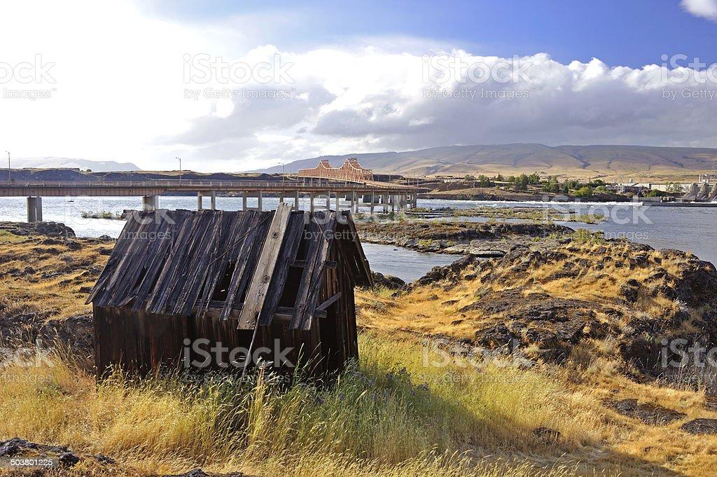 Native Indian Abandoned building stock photo