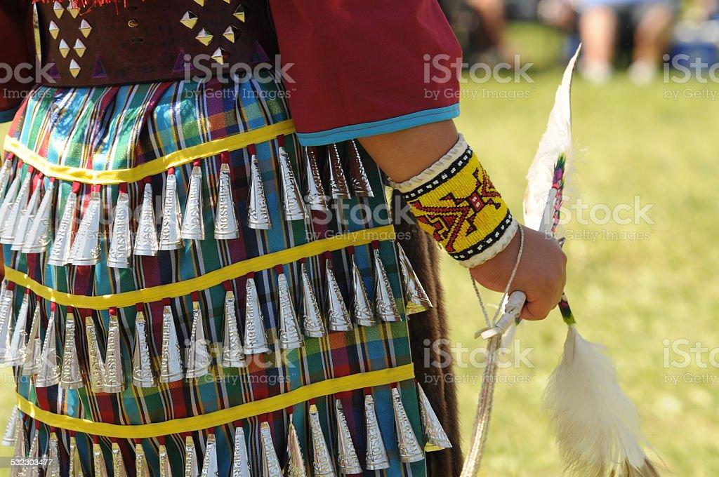 native Jingle dress Dancer stock photo