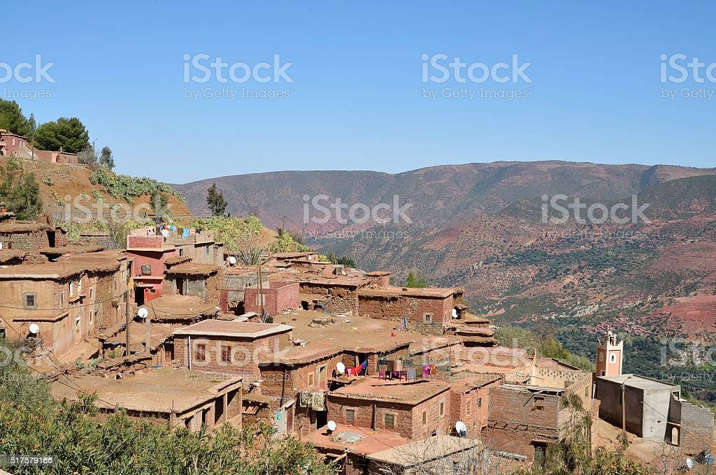 Native Moroccan Berber Mountain Village stock photo