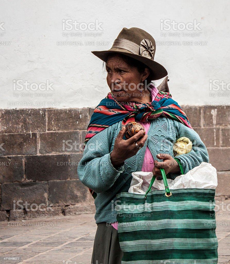 Native Peruvian Vendor royalty-free stock photo