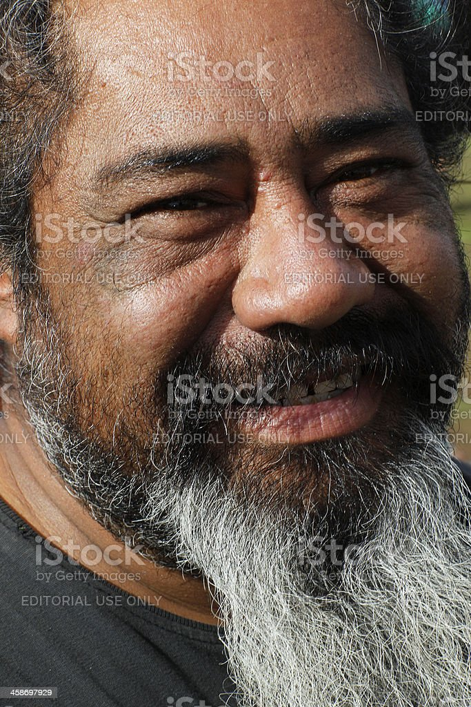 Native Rapanuian Man stock photo