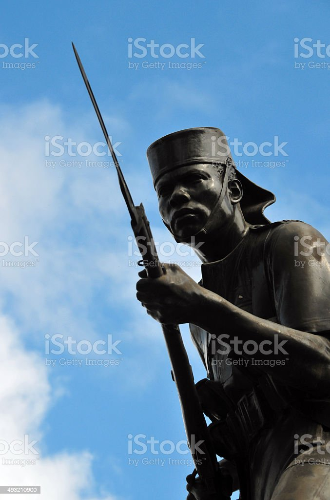 Native soldiers monument, Dar Es Salaam stock photo