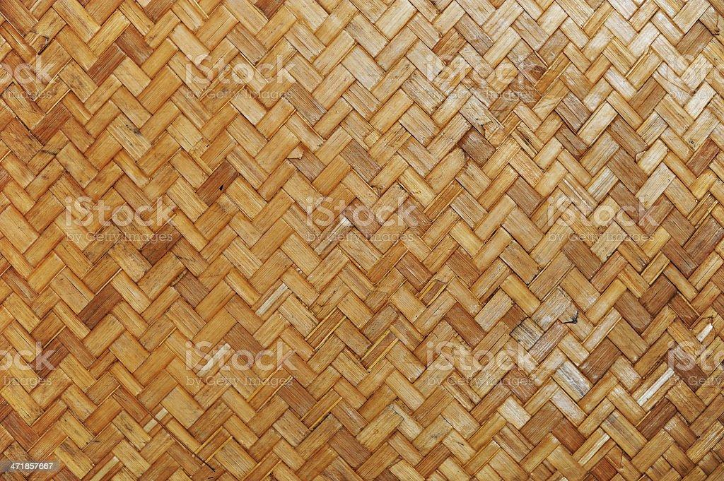 Native Thai style bamboo wall royalty-free stock photo