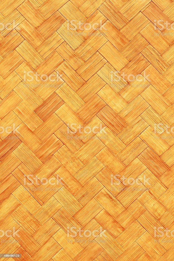 Native Thai style woven bamboo texture royalty-free stock photo