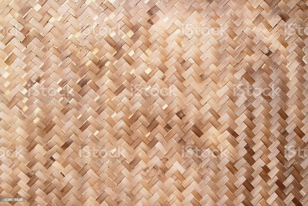Native Thai style woven bamboo texture stock photo
