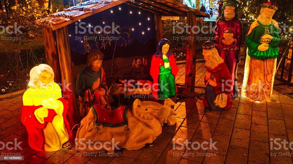 Nativity art stock photo