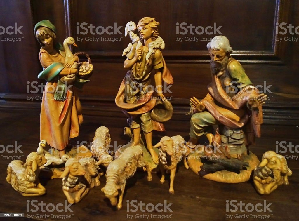 Nativity in the church of San Giuseppe, Florence stock photo