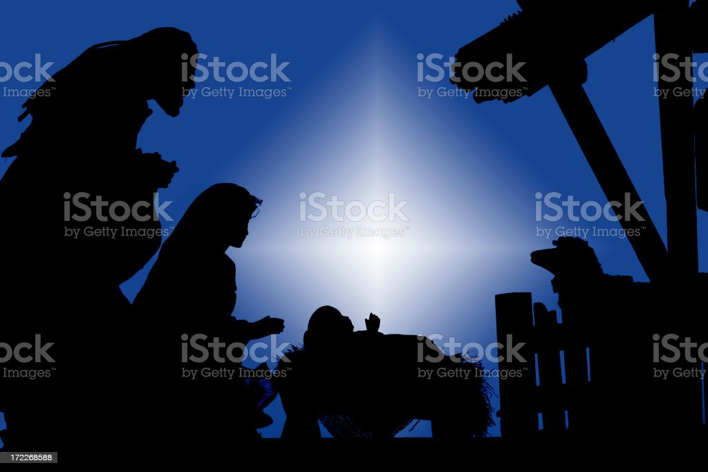 Nativity (photograph Silhouette) stock photo