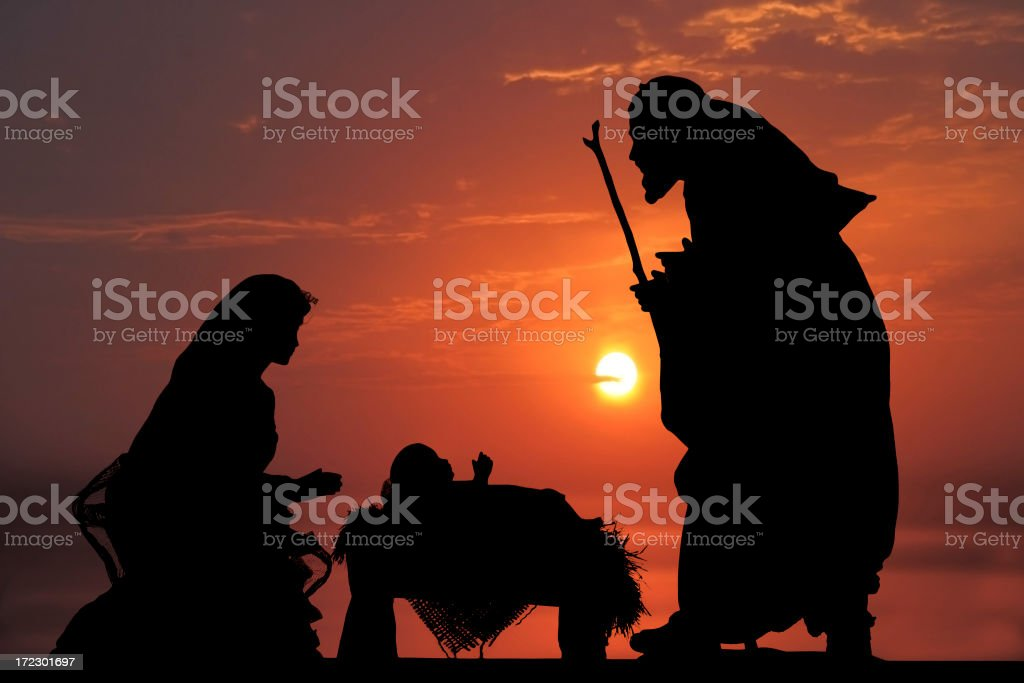 Nativity (photographed Silhouette) stock photo