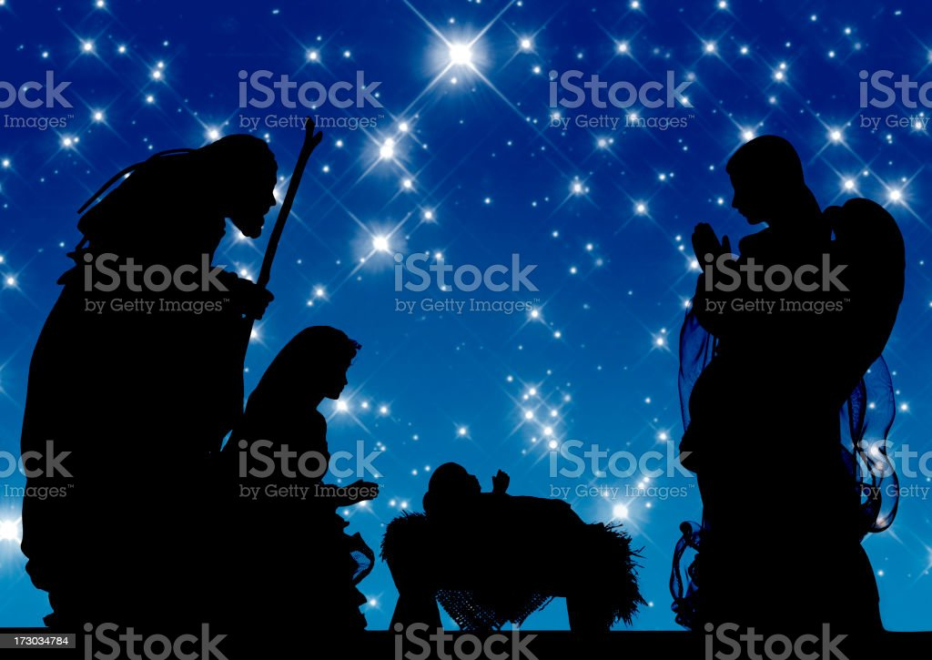 Nativity (Photograph Silhouette) royalty-free stock photo