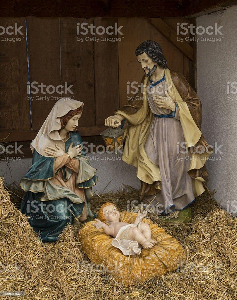 Nativity Scene Christmas royalty-free stock photo