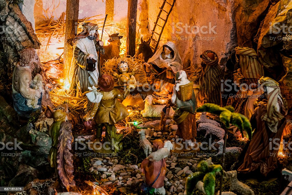 Nativity Scene - Crèche stock photo