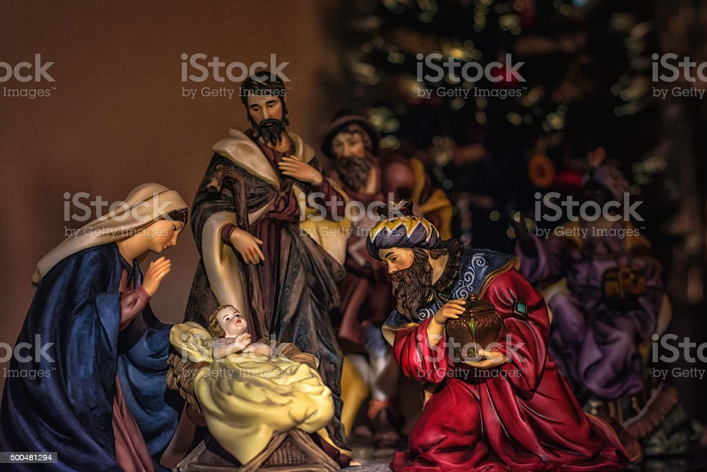 Nativity scene II stock photo
