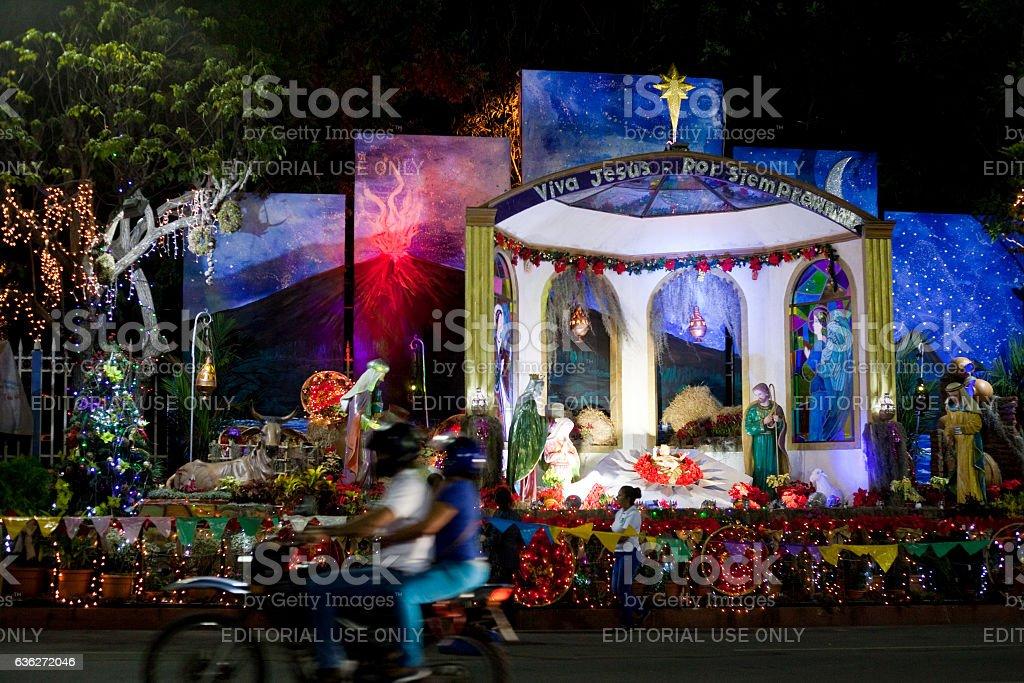 Nativity Scene in Managua stock photo
