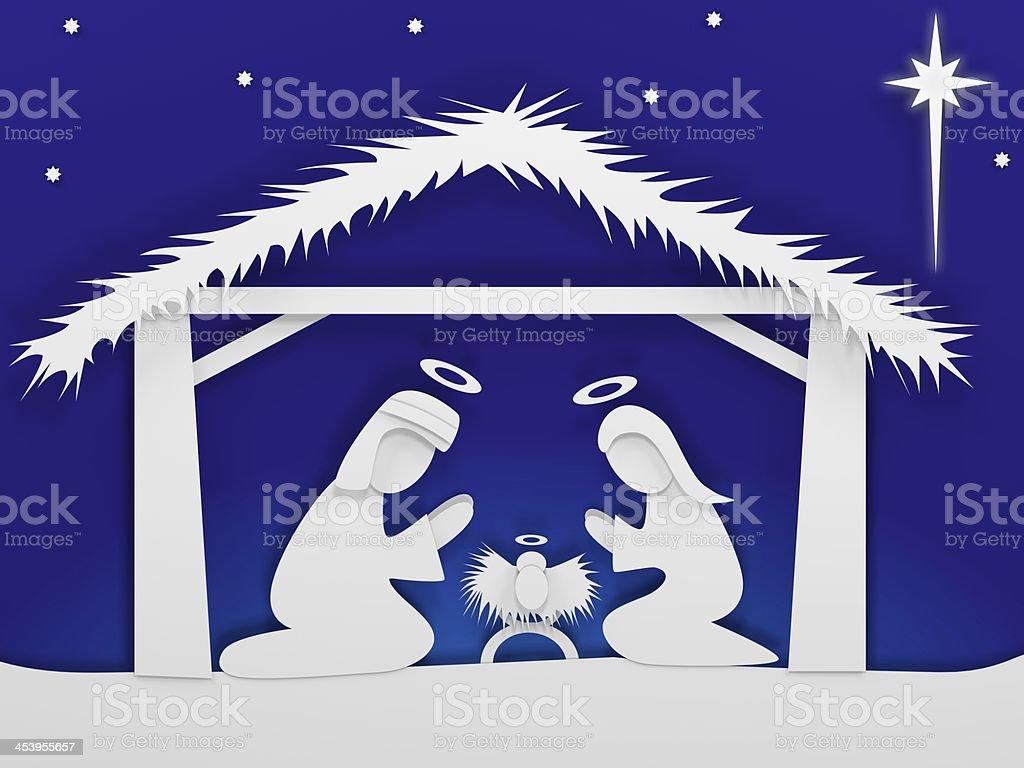 Crèche de Noël photo libre de droits