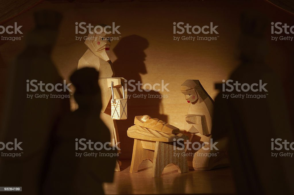 nativity scene royalty-free stock photo