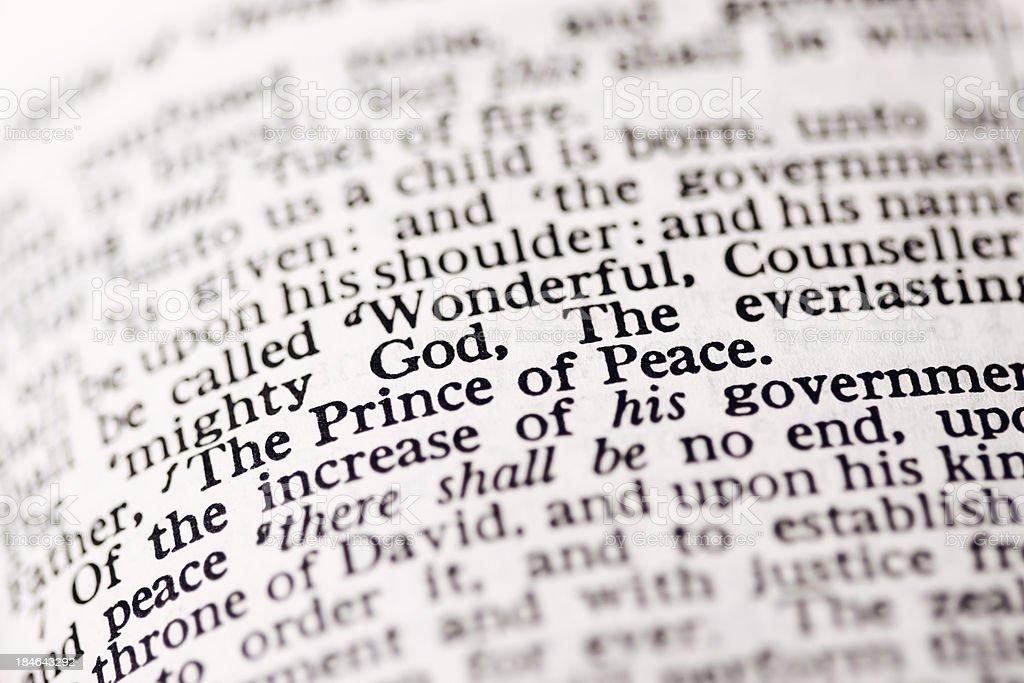 Nativity Story Text royalty-free stock photo