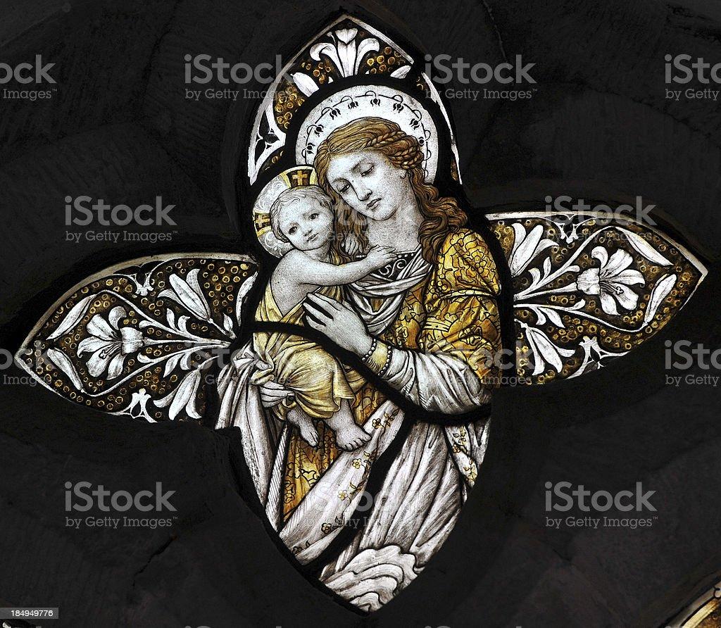 Nativity Window royalty-free stock photo