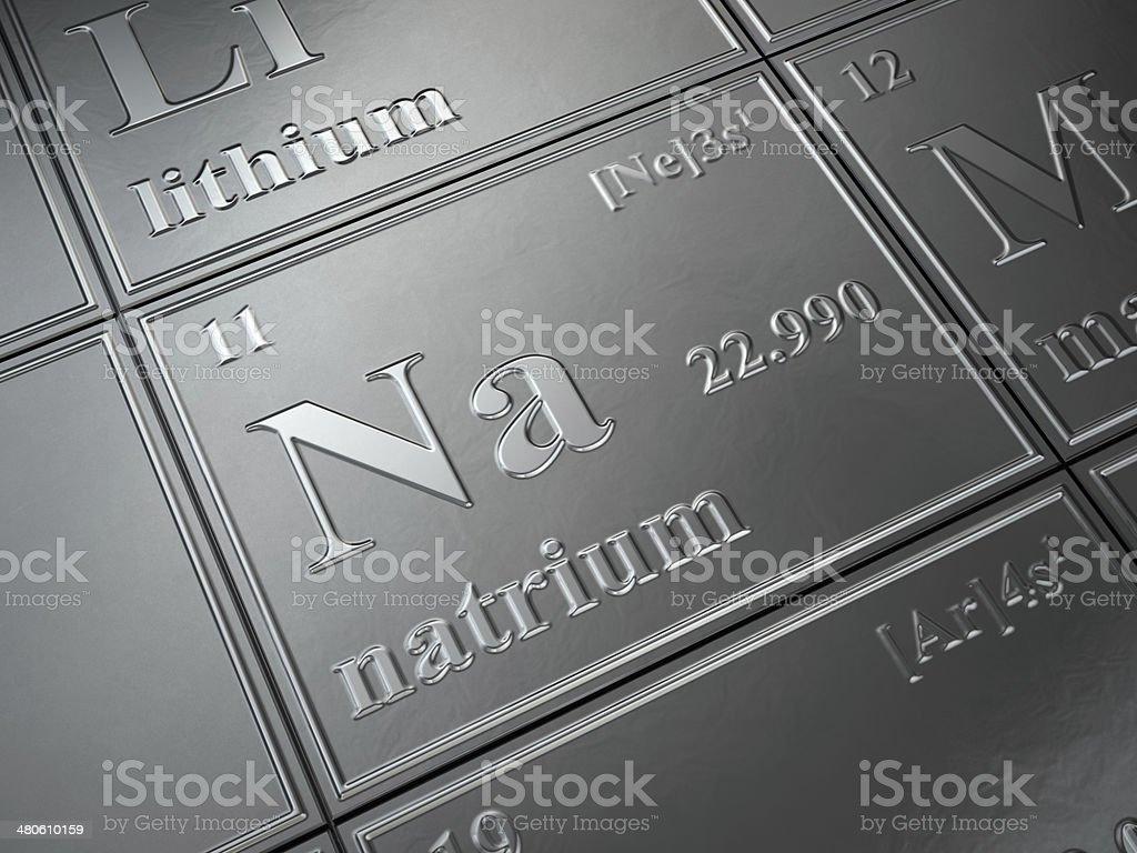 natrium stock photo