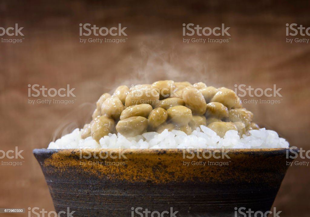 Natto meal stock photo