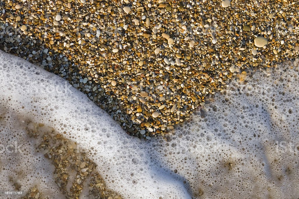 Natural abstract design on the beach royalty-free stock photo