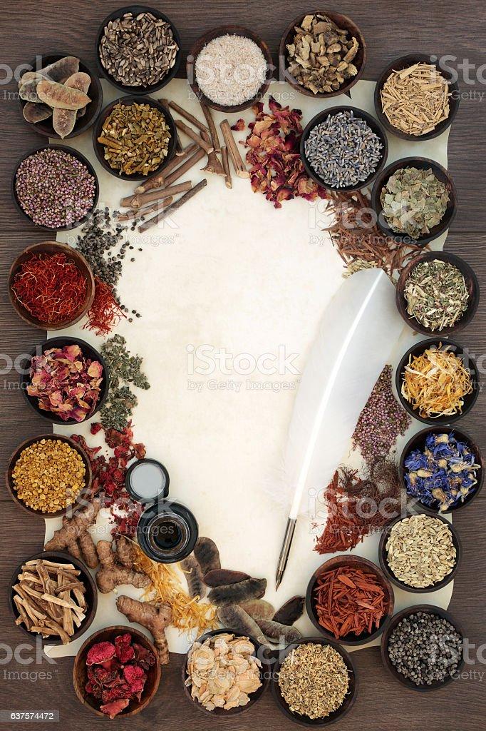 Natural Alternative Herbal Remedy stock photo