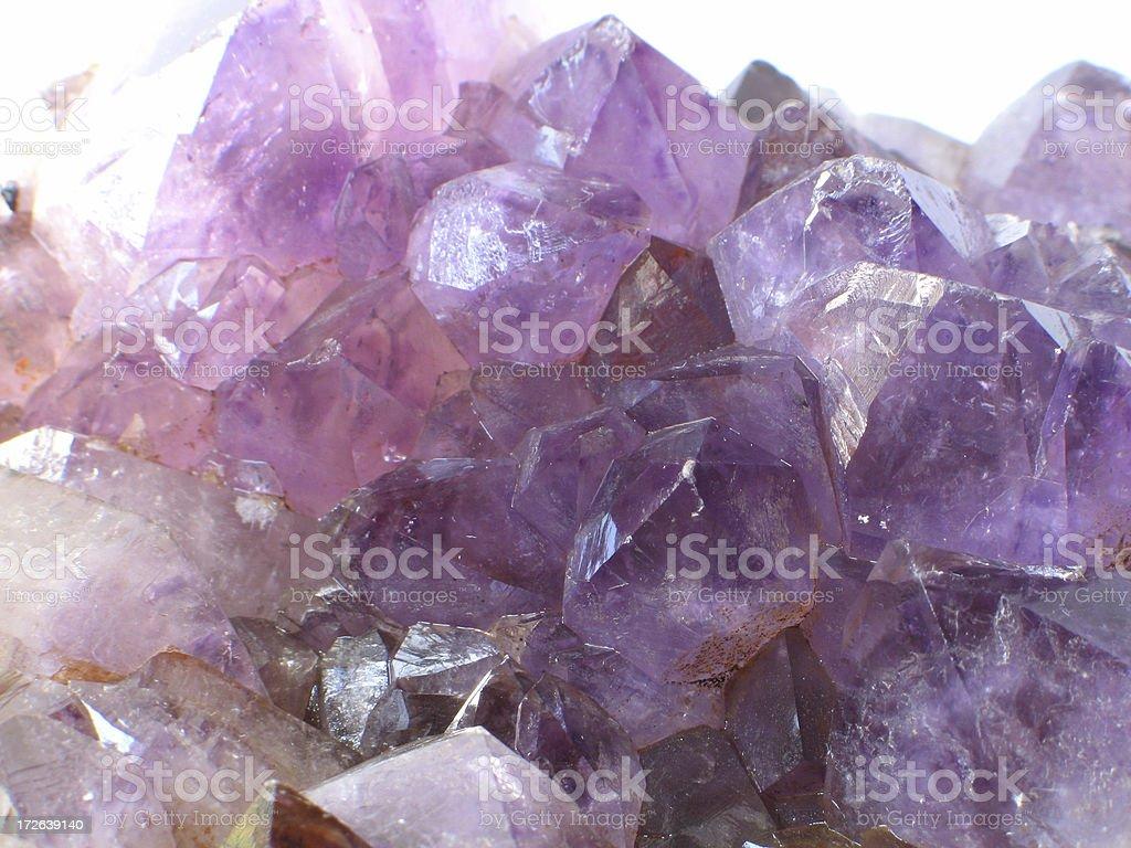 Natural amethyst crystal royalty-free stock photo