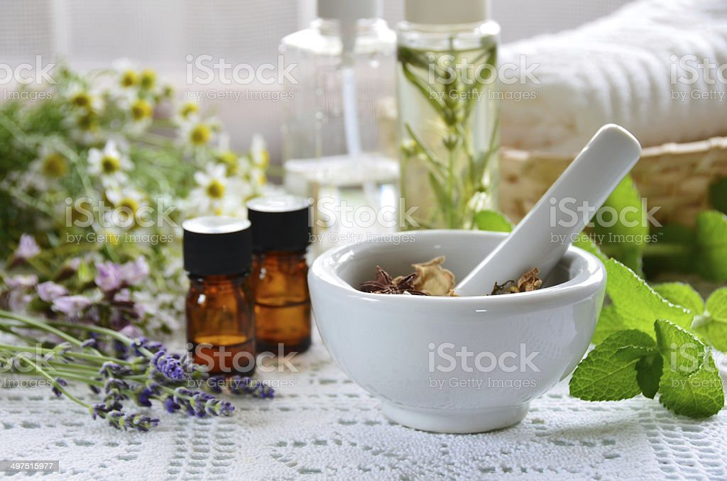 natural apothecary stock photo