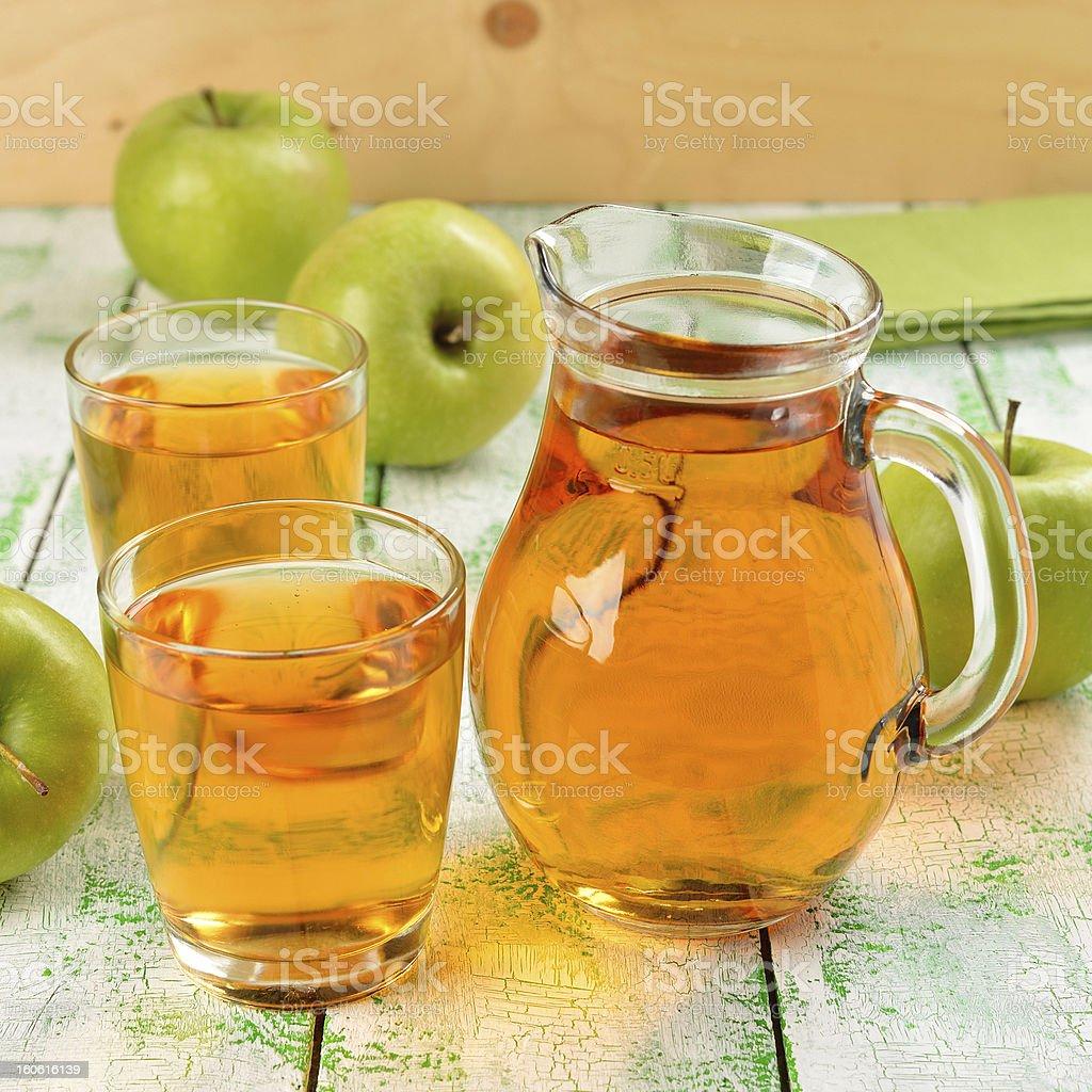 Natural apple juice royalty-free stock photo