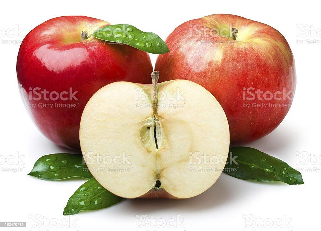 Natural apples royalty-free stock photo