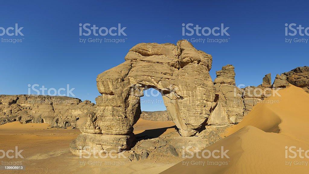 Natural Arch Panorama stock photo